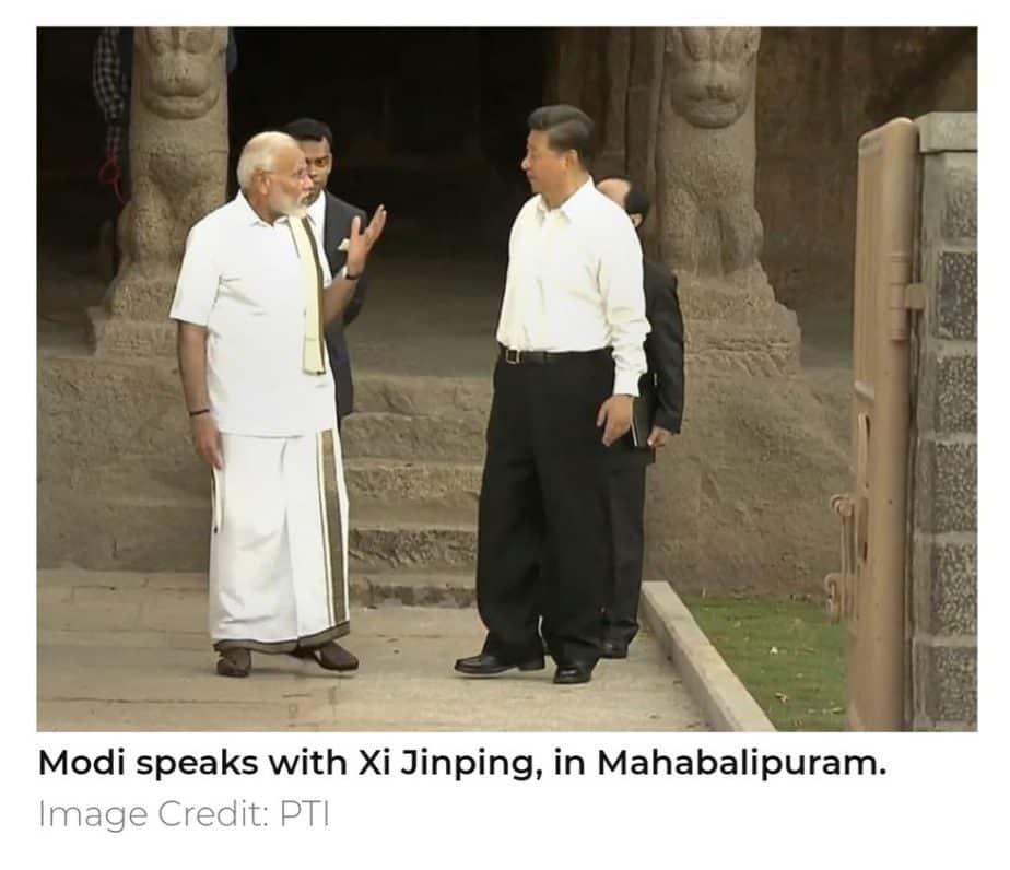Modi speaks with Xi jinping
