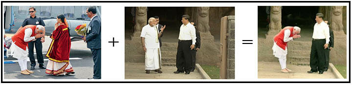 debunking truth behind viral photo of modi and jinping