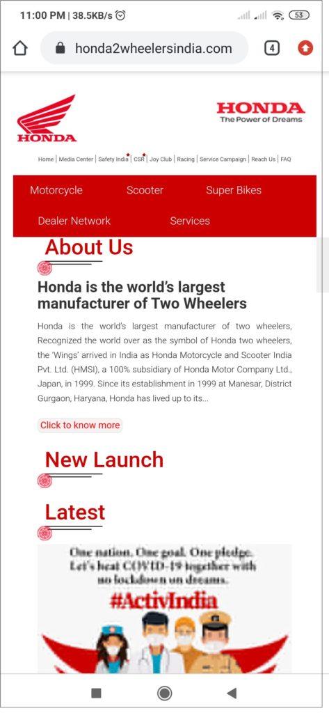 Original Honda website