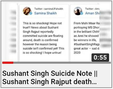youtube sushant singh suicide note news2