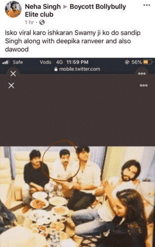 fB post to claim there is Dawood with Deepika and Ranveer Checkpost marathi