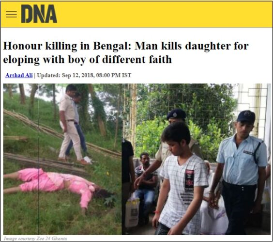 DNA news report to tell honour killing checkpost marathi