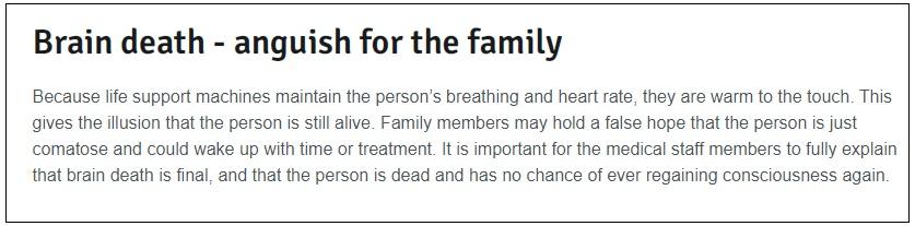 brain death and ventilator checkpost marathi