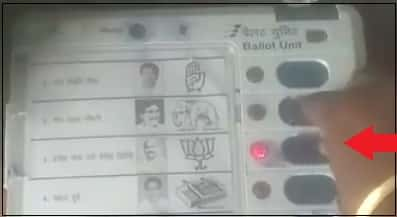 BJP manipulated evm or its hand trick check post marathi