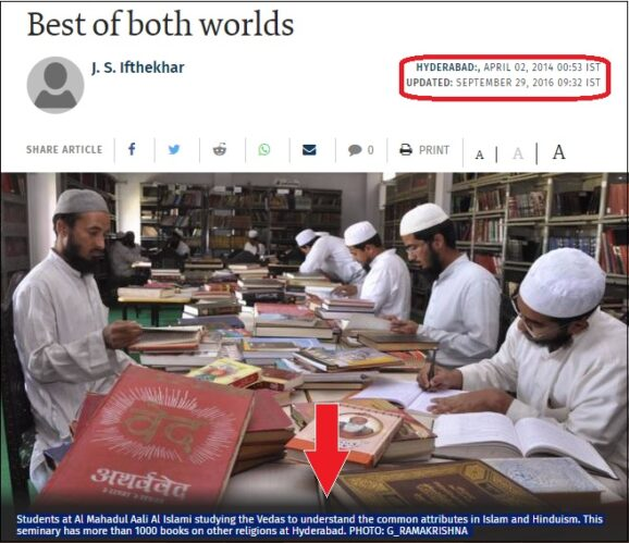 Muslim students studying other religions The hindu news