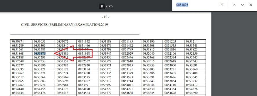 Anjali Birla UPSC preliminary result