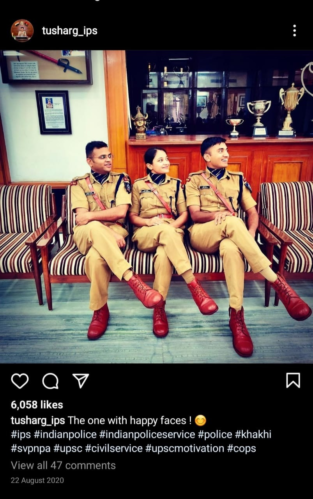 IPS Tushar Insta feed screnshot