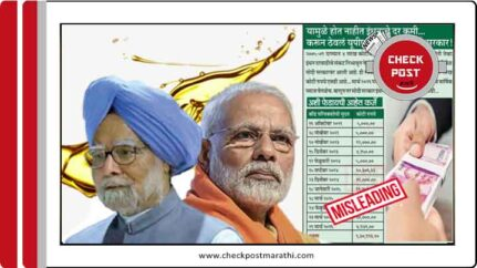 claims saying reson behind Fuel price is oil bonds by congress are misleading checkpost marathi fact